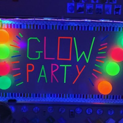Classroom Transformation Glow Party