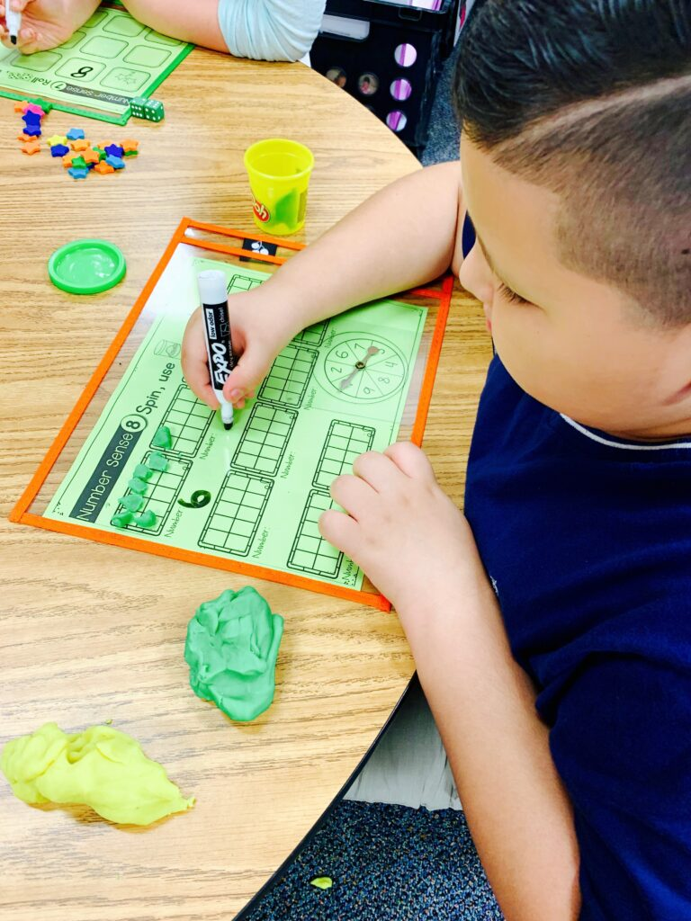 Math centers for primary students that are low prep and easy to print and go!