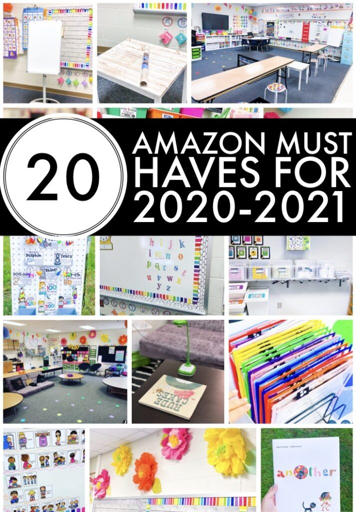 20 Amazon Classroom Must Haves for the 2020-20212 school year.