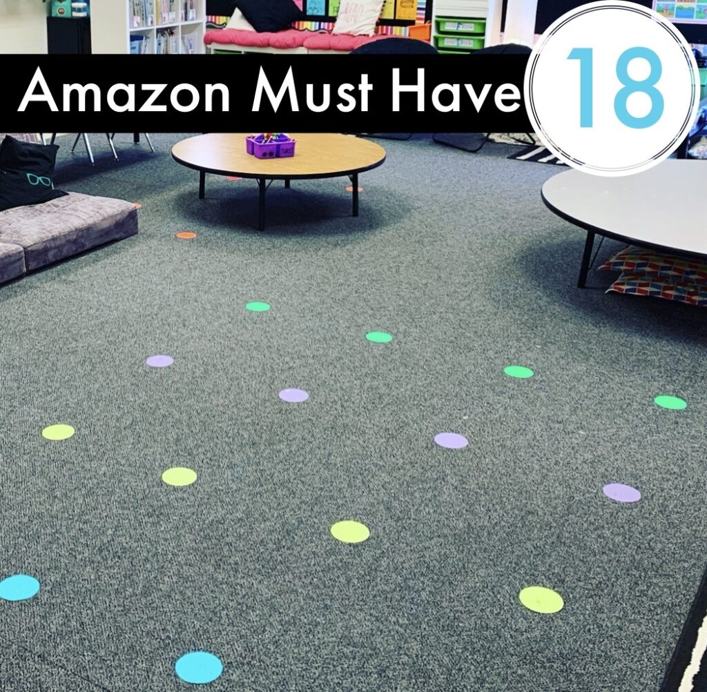 Amazon Classroom Must Have - Sit Spots to mark off students spaces and area on carpet or floor.