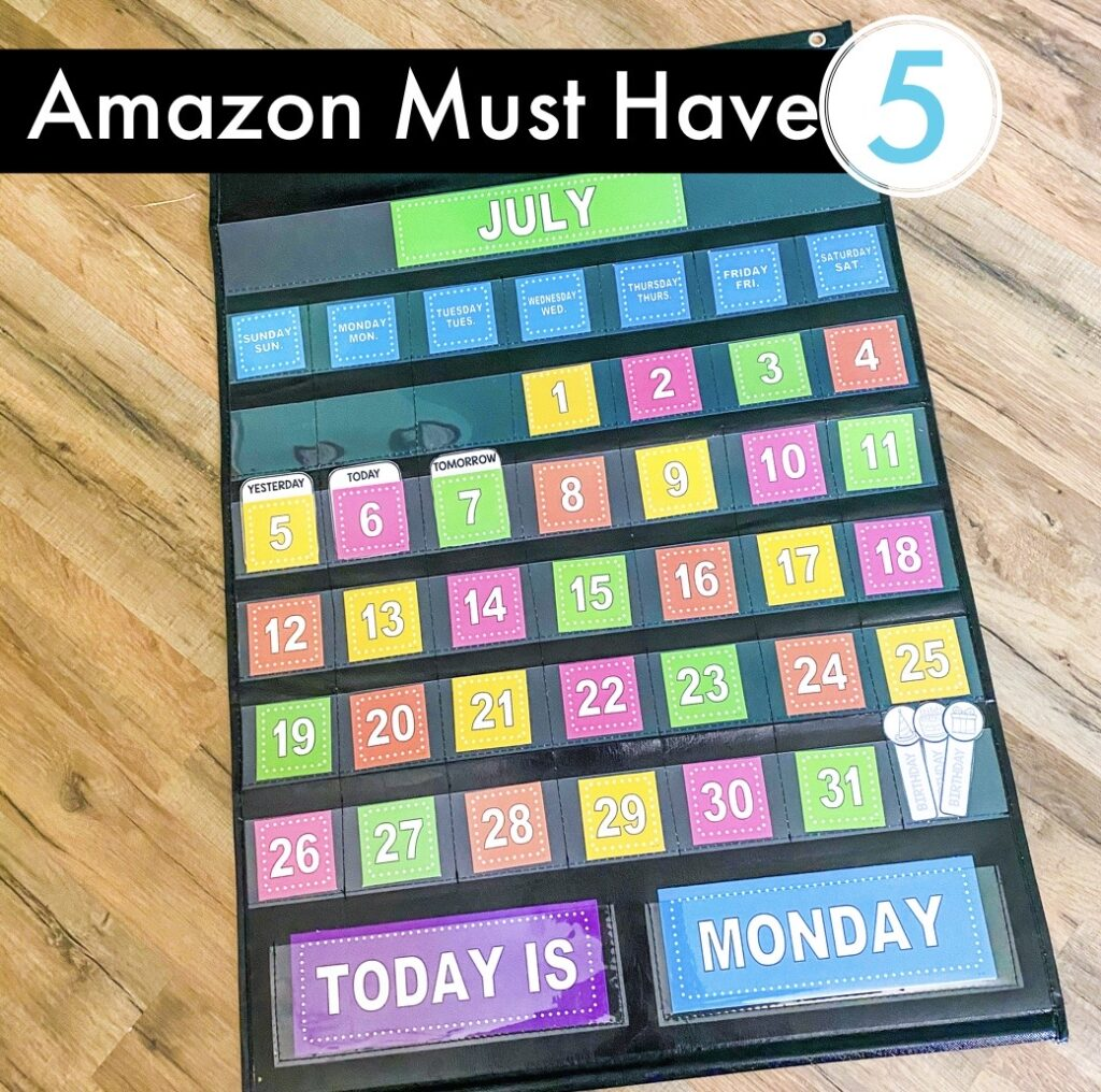 Amazon Classroom Must Have - Classroom calendar and pocket chart.