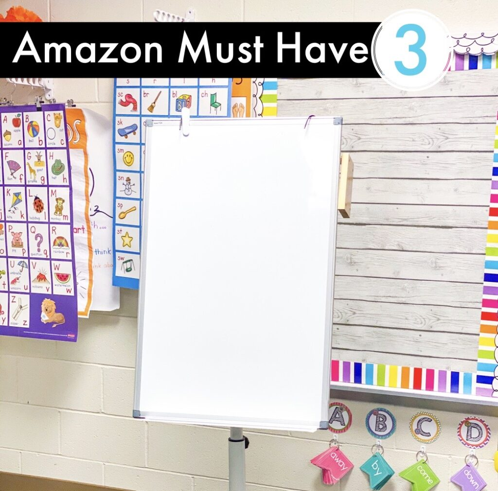Amazon Must Have - Portable white board for small groups or anchor charts.