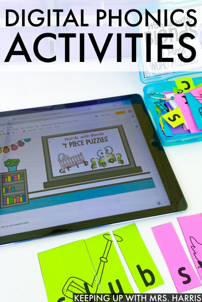 Digital Phonics Activities for the classroom or distance learning.