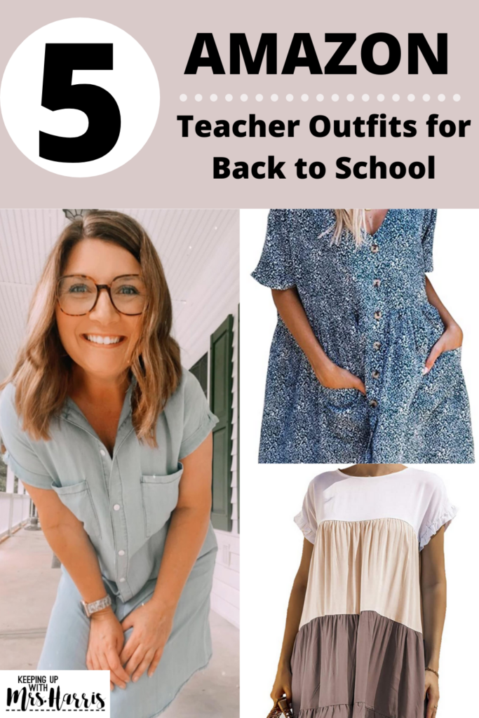 5 Amazon Teacher Outfits for Back to School - Go back to school in style and comfort with these trendy Amazon Teacher finds.